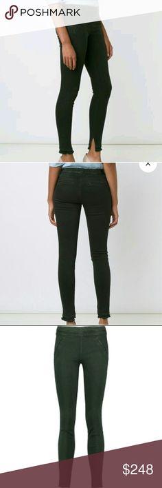 RtA Sonia Skinny Jeans Never worn! Road to Awe dark army green Sonia leggings. High- Rise. XS. Stretch cotton. Elasticated waistband. 92% cotton, 8% elastane. Machine wash. RtA Jeans Skinny