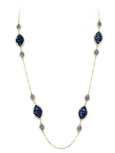 Marquise Gemma Necklace in Sapphire Crystal.