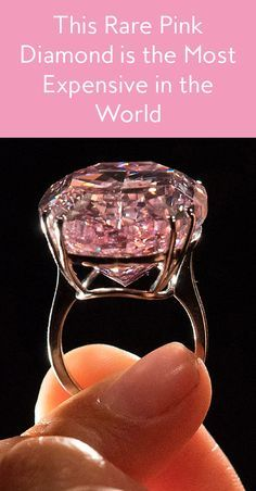 Ultra-Rare Pink Diamond Is Now the World's Most Expensive Diamond Now this is what you call some serious bling.Now this is what you call some serious bling. Most Expensive Diamond Ring, Expensive Rings, Most Expensive Jewelry, Pink Diamond Ring, Diamond Pendant, Hope Diamond, Silver Diamonds, Rare Diamonds, Turquoise Jewelry