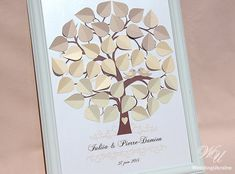 Ombre Wedding Tree  Wedding Guest Book Ideas  by WeddingUkraine #WeddingGuestbookideas #ombrewedding