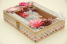 What a beautiful altered jewellery box by Irene Tan. #Bobunny, #Isabella, @Irene Hoffman Tan