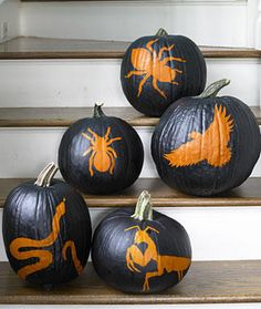 Not really into Halloween, but these pumpkins found in Woman's Day are a neat alternative to carving!