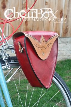 Leather Mini Rack Pannier by Choirbox on Etsy, $290.00