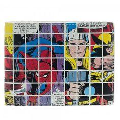 Marvel Grid Collage Bi Fold Wallet