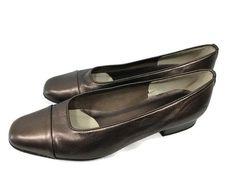 VAN ELI VANELI Size 9.5 M Womens Vero Cuoio Leather Bronze Shoes Pumps Classic #VanEli #PumpsClassics #WeartoWork