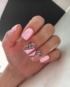 Elegant Touch Nails, Elegant Nail Art, Square Nail Designs, Gel Nail Art Designs, Maroon Nails, Pink Nails, Stylish Nails, Trendy Nails, Art Deco Nails