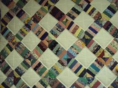 adding machine border quilt samples  ~  Some string piecing projects