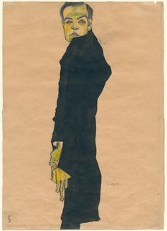 """""""Egon Schiele: Portraits,"""" at the Neue Galerie, unspools the striking evolution of this Expressionist, who would become one of the century's most popular artists. Neue Galerie New York, Vampire Stories, Most Popular Artists, Art Criticism, Ny Times, Batman, Gallery, Drawings, Fictional Characters"""