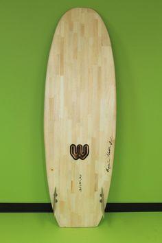 Finished Wooden Spoon Style Reclaimed Balsa Surfboard - Shaped by Ben Wallbridge