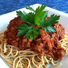 """World's Best Pasta Sauce! I """"WONDERFUL! This was probably the best homemade meat sauce I've ever made. Absolutely a keeper! I used this to make a lasagna and it came out delicious."""" (Worlds Best Soup) Homemade Meat Sauce, Meat Sauce Recipes, Pasta Recipes, Beef Recipes, Cooking Recipes, Hamburger Recipes, Best Spaghetti Sauce, Lotsa Pasta, Sweet Italian Sausage"""