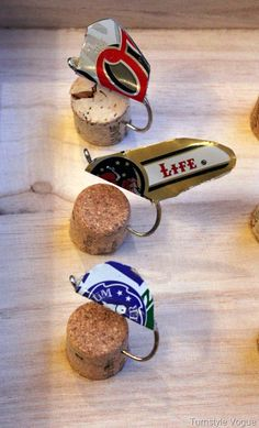Homemade Fishing Lures From Beer Cans & Beer Bottle Cap Hand Etched Box.  Click on the link to see the box that they come in.  DIY GIFT FOR HIM. Hey @katie Sheretko
