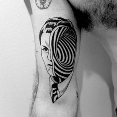 Black and White Expressive Tattoos by Sixo Santos - Black and White Expressive Tattoos by Sixo Santos Inspired by the artworks of Claude Serre and Char - Time Tattoos, Body Art Tattoos, Sleeve Tattoos, Tatoos, Black Tattoos, Small Tattoos, Cool Tattoos, Hellboy Tattoo, Surreal Tattoo