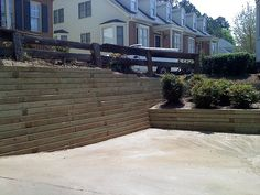 pressure treated timber retaining wall | This is an after pi… | Flickr