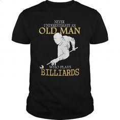 Limited - Billiards Old Man Shirt - tshirt printing #teeshirt #clothing