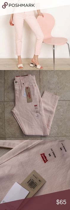 ec50eb5a Levi's Pink Wedgie Fit High Rise Jeans Sz 26 ✨ Levi's Pink Wedgie Fit High  Rise