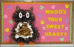 Owl valentine bulletin board idea