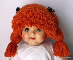 Cabbage Patch Kids Crochet Hat / Doll WigSize by CountYourStitches, $28.00