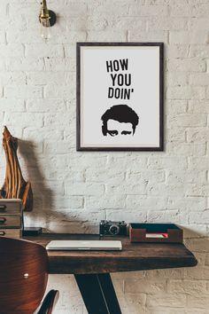 Dieses lustige Joey Tribbiani (von F.R.I.E.N.D.S) Typografie Stück wird bei dicken hat Papierqualität gedruckt und ist auch erhältlich in