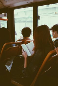 She sat on the bus, reading her favorite novel. How did I know that? She's my…