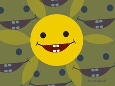 happy faces | Free Wallpaper of a cute Smiley Laughing and showing teeth - by Sl ...