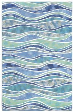 Step onto an ocean of comfort and style found with this indoor/outdoor rug. Waves full of colorful design by Liora Manne make this rug feel like a piece of modern art. It& flat, simple and easy to care for—practical for any room. Coastal Cottage, Coastal Style, Coastal Decor, Coastal Rugs, Coastal Fabric, Coastal Lighting, Modern Coastal, Coastal Farmhouse, Farmhouse Rugs