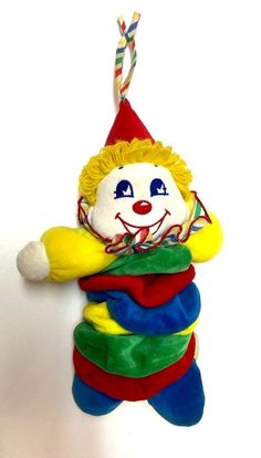 Vintage BANTAM Musical Stuffed Clown Plush Baby Toy Boy Moves #Bantam