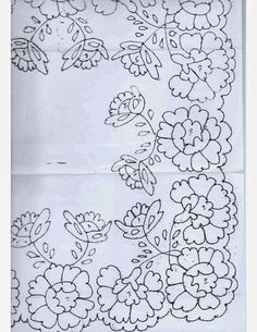 This Pin was discovered by zeh Floral Embroidery Patterns, Cutwork Embroidery, Lace Patterns, Vintage Embroidery, Embroidery Stitches, Embroidery Designs, Candlewicking Patterns, Pattern And Decoration, Doodle Coloring