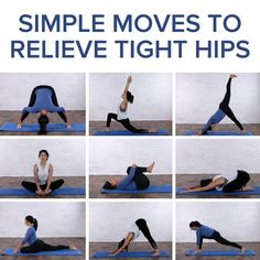 Yoga moves and stretches for tight hips #HipFlexorsStrengthening