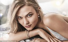 Natural beauty: The Victoria's Secret stunner smolders in this snap of her wearing a silve...
