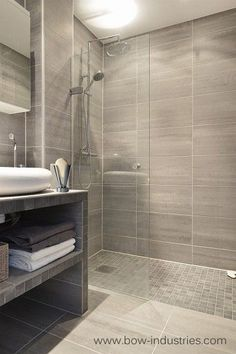 Contemporary Bath. Love the tile.