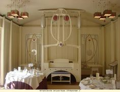 Designed by Charles Rennie Mackintosh in House for an Art Lover, Glasgow… Bedroom Art Nouveau, Mobiliário Art Nouveau, Art Nouveau Furniture, Art Nouveau Design, Art Nouveau Jewelry, Charles Rennie Mackintosh, Belle Epoque, Bauhaus, Mackintosh Furniture