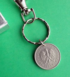 Birthday Gift for Polish DNA. I have teamed this 1995 Poland coin with a nickle Keyring and small Lobster clasp 1 Zloty Polish Keychain, Nickle coin Golfer's Keychain. The coin is cm and the keyring is cm diam. 24th Birthday, Birthday Gifts, Folk Fashion, Poland, Irish, Coins, Coin Purse, 21st, Charmed