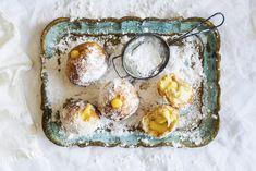 Mini Doughnuts with Marzipan Cream