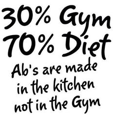 Abs are made in the kitchen! #abs
