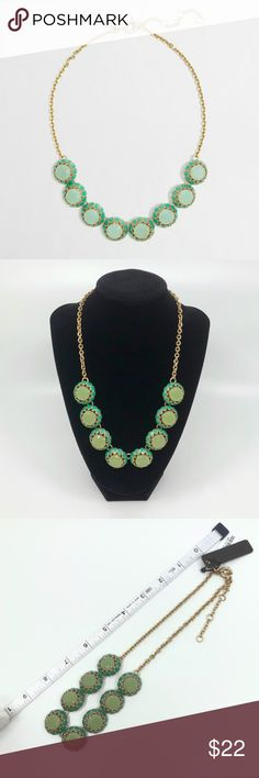 """J. Crew Crystal Cupcake Mint Green Necklace NWT J.Crew Crystal Cupcake Necklace in Creme de Menthe (Mint Green)  - Approx. 18"""" long with +3"""" extension - Brass ox - Spring ring closure with crystal charm J. Crew Jewelry Necklaces"""