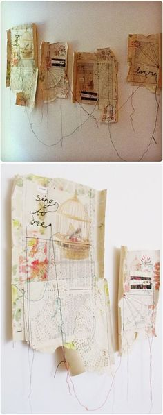 Art from recycled Tea Bags