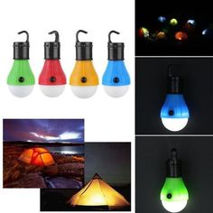 Portable Lighting Tent Lamp 3 Leds Emergency Camping Soft White Light Led Bulb Lamp Powered Aaa Batteries Energy Saving Lamp Outdoor Hiking Lanter Latest Fashion