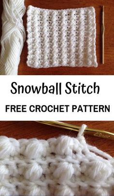 How to Crochet the Snowball Stitch Free Crochet Pattern for the Snowball Stitch—learn this easy textured crochet bobble stitch! Free pattern & tutorial as apart of the Desert Blossom Stitch Along. Crochet Stitches Patterns, Crochet Patterns For Beginners, Crochet Basics, Knitting Stitches, Stitch Patterns, Knitting Needles, Sock Knitting, Knitting Tutorials, Knitting Machine