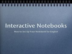 Slideshow/slide share on how to create interactive Notebooks-Students can express their own ideas and process the information presented in class. Can be used as a portfolio on individual learning.