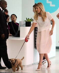 Hold up: Mollie King was seen arriving at the ITV studios with her pet dog Alfie on Tuesday