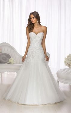 D1690 Drop Waist Wedding Dress by Essense of Australia