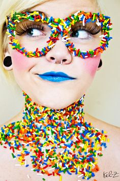 Kel-Z Photography - Extreme Makeup - Candy Girl Costume Bonbon, Costume Carnaval, Candy Girls, Candy Costumes, Halloween Costumes, Candy Makeup, Eye Candy, Clown Makeup, Karneval Outfits
