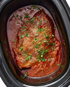 Sweet and Tangy Slow Cooker Brisket Recipe. This EASY and SIMPLE comforting crockpot dinner will become one of your favorite comfort food recipes during the cold weather and months ahead. Switch it up with your roasts and beef recipes this winter! Crock p Feliz Hanukkah, Hanukkah Food, Hanukkah Recipes, Jewish Recipes, Hannukah, Happy Hanukkah, Slow Cooker Recipes, Crockpot Recipes, Cooking Recipes