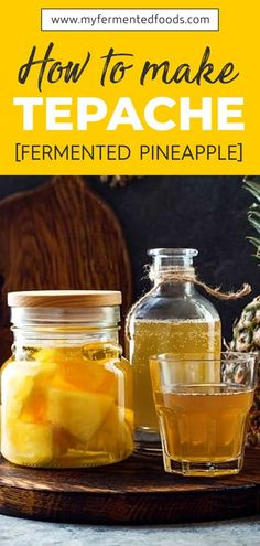 Learn how to make tepache - a light and refreshing probiotic drink from Mexico.Tepache is made from fermented pineapples and has a natural sweet and sour taste. . . . #MyFermentedFoods #Pineapple #PineappleTepache #Tepache #FermentedDrinks #Fermentation #Fermenting #Kombucha #ProbioticDrink #HomeBrew #Brewing #Drinks Sauerkraut, Fitness Nutrition, Health And Nutrition, Nutrition Articles, Health Tips, Avocado Nutrition, Nutrition Products, Nutrition Chart, Proper Nutrition