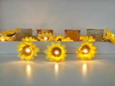 Sunflower fairy led lights Sunflower Lights String Garland