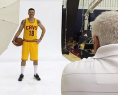 The Cavs' Mike Miller #13 gets his portrait taken at Cavs Media Day!