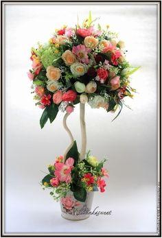 "Топиарий, дерево счастья ""Ангел"" - розовый,топиарий,топиарий дерево счастья"