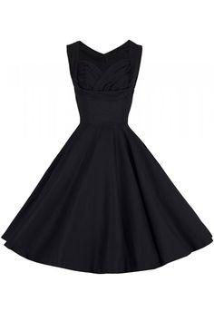 58 vintage φόρεμα ophelia black 50s