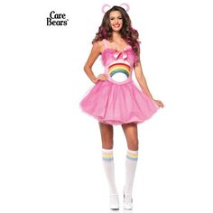 Sexy Care Bears Cheer Bear Costume for Women ($38) ❤ liked on Polyvore featuring costumes, halloween costumes, multicolor, sexy lady costumes, bear halloween costume, white halloween costumes, white costume and womens costumes