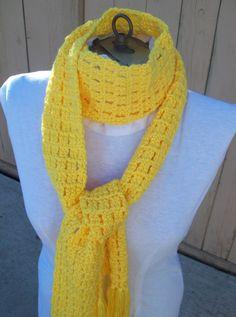 SALE on this lovely Yellow Scarf by IdasBrooklynBarn on Etsy, $10.00